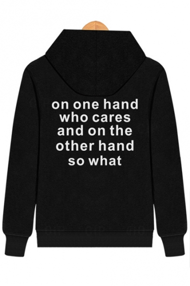 Couple Sleeve Long Letter for Stylish Casual Hoodie New Print Itw8Ax