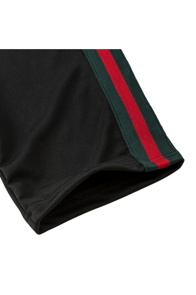 Block Neck Sports Pants Round Elastic Short Color Co Striped Fashion ords Cropped Tee Waist Sleeve w5IFqx
