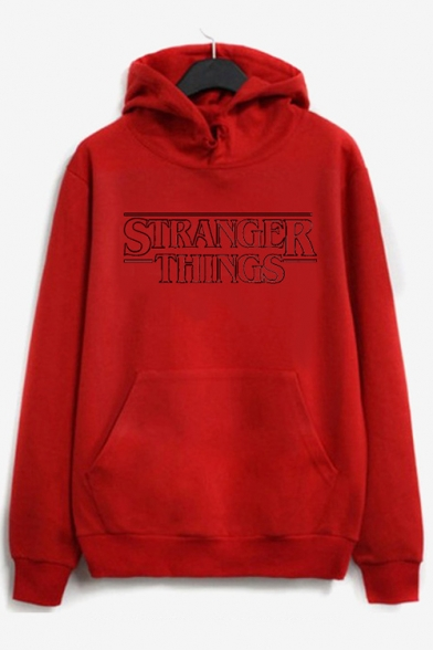 Printed with Hoodie Stylish Casual Pocket Pullover Letter Sleeves Long HpqWFq5