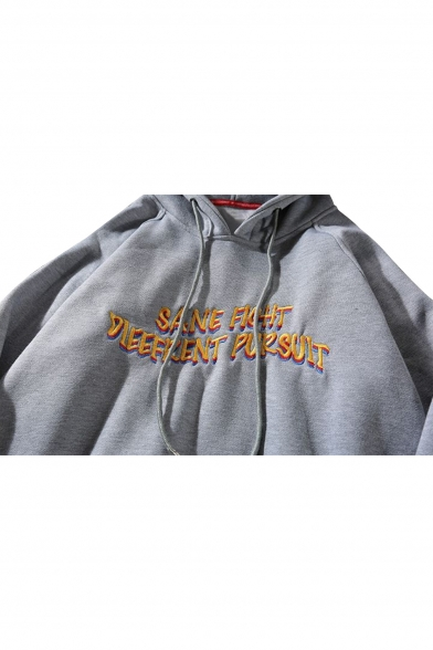 Loose Fish Letter Sleeve Embroidered Hoodie Long dIpqxOwp