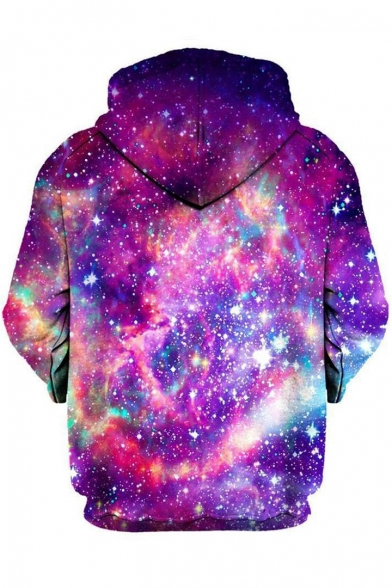 Hoodie Bacon Galaxy Pullover Pattern Long Sleeves Panda with Brilliant Pocket 0Hwq1Bn6