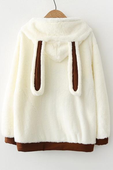 Hoodie Squirrel Fashion Embellished Long Sleeve Pattern Pom Pom vw4f0B1q