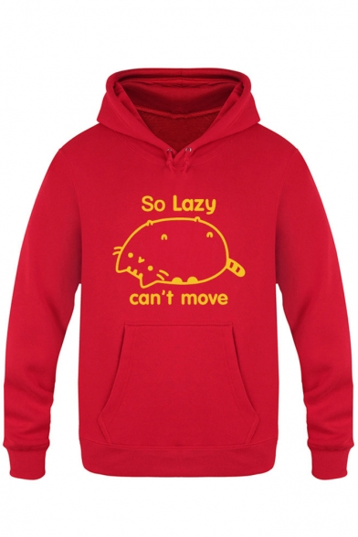 Sleeve Leisure Letter with Pocket Chic Hoodie Cartoon Print Long Xw4Rr1wq
