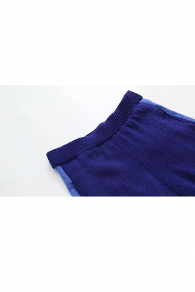 New Stylish Striped Side Elastic Waist  Knitted Pants