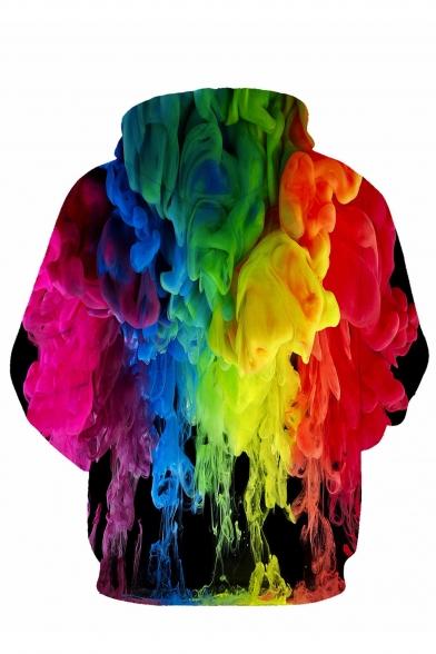 Cool Colorful Painting Print Long Sleeve Hoodie