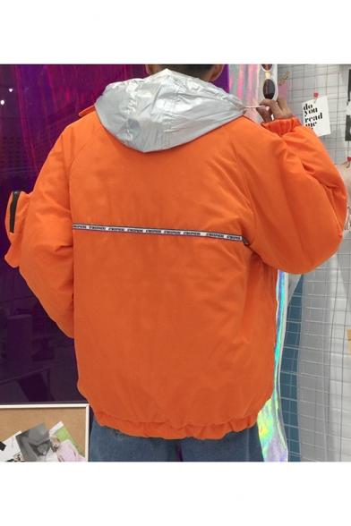 New Stylish Print Long Lapel Sleeve Zipper Coat