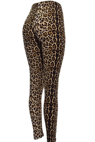 Wild Animal Leopard Panther Pattern Slim-Fit Fashionable Women's Leggings
