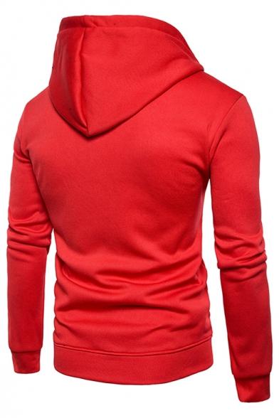 Hot Fashion Striped Print Long Sleeve Casual Hoodie
