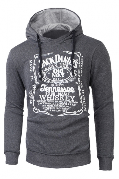 Sleeves Hoodie Drawstring Printed Long Logo with Pullover Casual Leisure Letter wZ1FIF