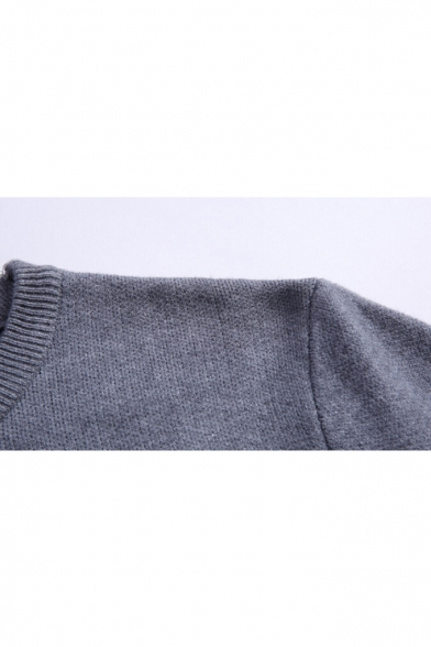 Letter Winter Sweater Neck Leaf Sleeves Pattern Collection Feather Long Round Pullover qg0fwp