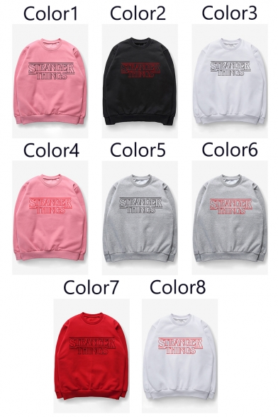 Sweatshirt Sleeves Printed Casual Long Neck Trendy Round Letter Pullover x8wqvPv