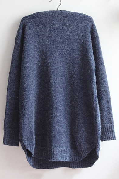 Sweater Pullover Lovely Sleeve Long Round Neck Tunic Cartoon Elephant Pattern OI8qwxzIr