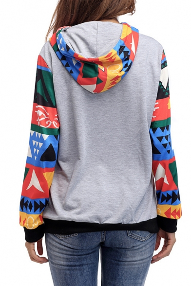 Hoodie Pocket Sleeve Hot Leisure with Fashion Print Long wq6ZTRzS