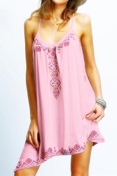 Print Stylish Dress Cami Hem Tribal Asymmetric New W0wznHqTET