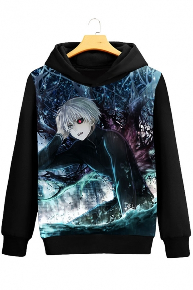 Hot Fashion Long Print Cartoon Leisure Sleeve Hoodie rrqPdZxw
