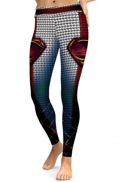 Hot Fashion Color Block Slim-Fit Elastic Waist Leggings