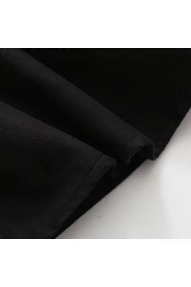 Ruffle Tank Front Dress Square Neck Tie Plain Fashionable Bow Atqnw7EF