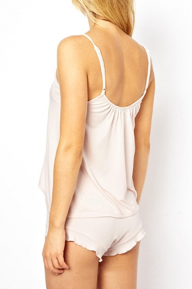 Fashionable Letter Print Cami Shorts Pajamas Co-ords