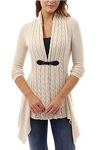 New Stylish Simple Plain Long Sleeve Tunic Cardigan