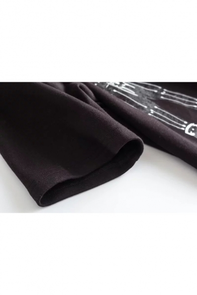 Fashionable Astronaut Printed Round Neck Short Sleeve Loose Summer Tee