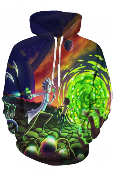 33d9958af4e Trendy Cartoon Printed Long Sleeves Pullover Hoodie with Pocket -  Beautifulhalo.com
