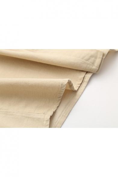 Cartoon Figure Japanese Print Pocket Bow Front Long Sleeve Lapel Shirt
