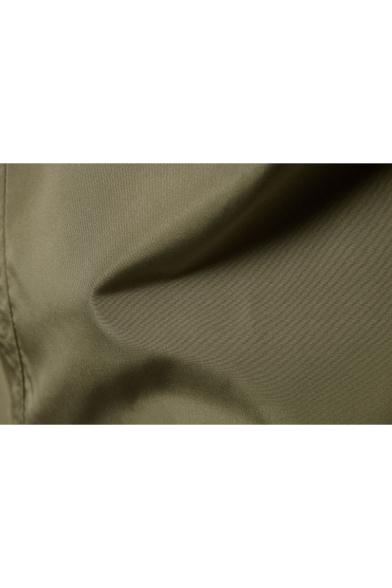 Trendy Double Button Long Sleeves Notched Lapel Plain Longline Men's Blazer