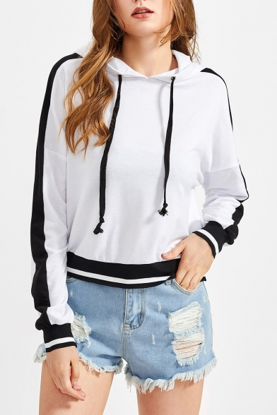 Women's Pullover Hoodie Sleeves Leisure Long Striped Fashion Pattern pZqrpX