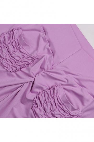 9db06739a8 ... Sportive Double Pockets High Waist Slim-Fit Plain Workout Pants