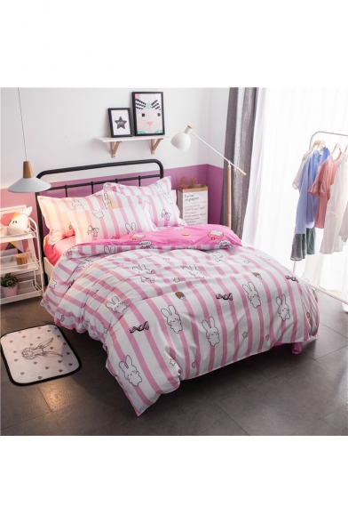 ... Lovely Rabbit Printed Super Soft Bedding Sets Bed Sheet Set Duvet Cover  Set Bed Pillowcase