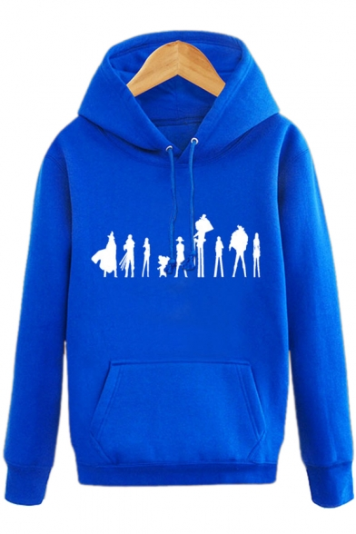 Pullover Character Long Print Hoodie Unique Sleeves Pocket with Cartoon XCq5xw1