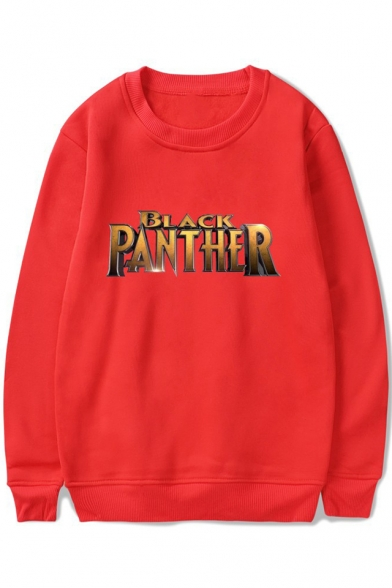 Hot Stylish Letter Pattern Round Neck Long Sleeves Pullover Sweatshirt, Black;pink;red;white;gray;navy, LC466039