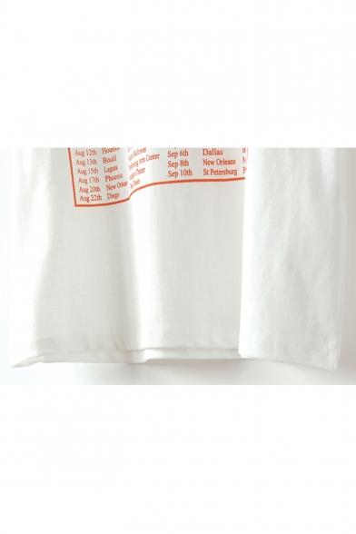 Sleeves Tee Graphic Neck Casual Leisure Letter Print Round Short PqxXq8OZ