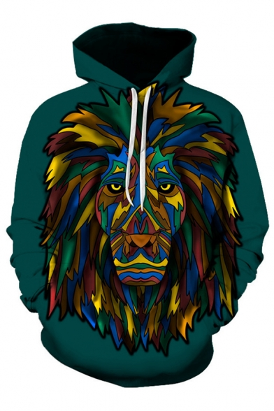 Hot Fashion Tribal Lion Print Long Sleeves Pullover Unisex Hoodie