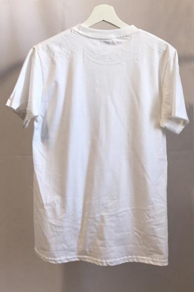 Letter shirt Neck Summer T Short Fancy Round Print Sleeves dqzCtA8