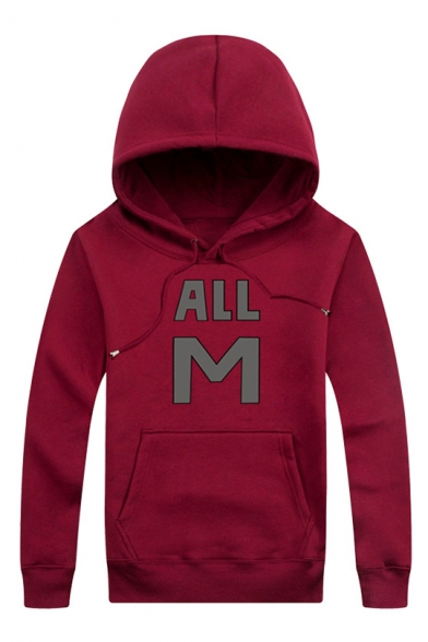M Letter Hot ALL Sleeve Pocket Hoodie Printed Simple Sale with Long Leisure 4gtqwnf6t
