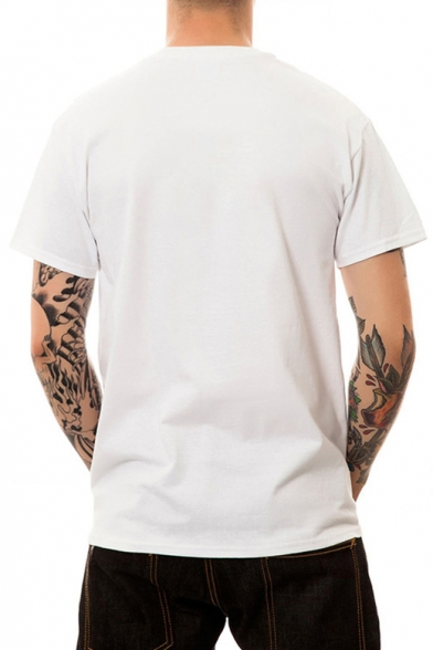Tee Short Sleeve Printed Unisex Comfort Round Neck Character qUwAx