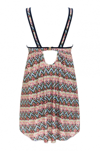 Swimwear Sexy with Pieces Tank V V Printed Neck Neck Two Tribal Shorts FFwOPT