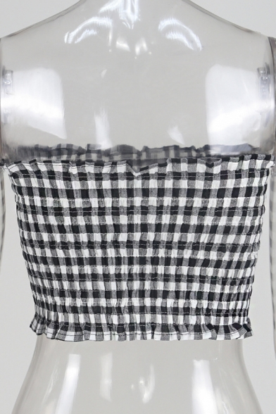 Monochrome Printed Cropped Summer Collection Slim Classic Bandeau Sleeveless qZnEPO1P