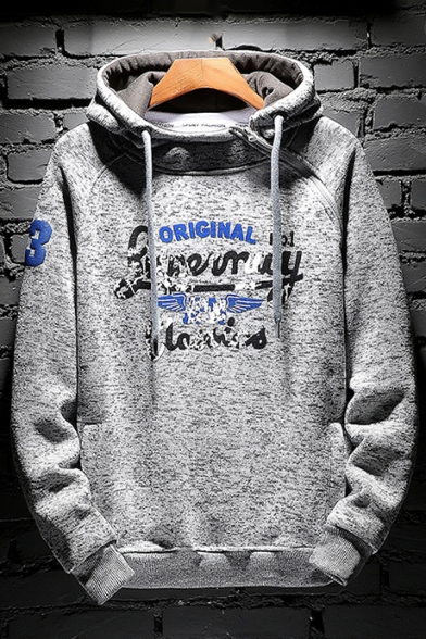 Long Hoodie Sleeve Chic Popular Letter Leisure Sports Printed qwwHRO4