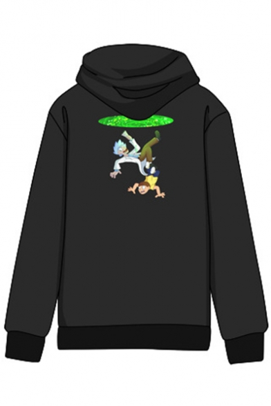 Print Letter Long Hoodie Pocket Pullover with Sleeves Popular Cartoon 56qaEE
