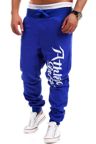 Drawstring Waist Letter Printed Leisure Loose Sports Comfort Pants