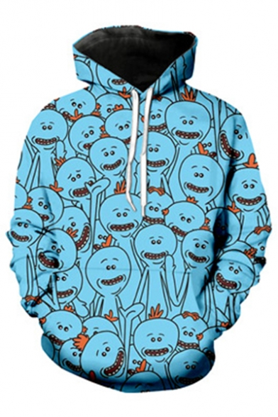 Cartoon Trendy 3D Hoodie Oversize Sleeve New Printed Long 7pqxnFwwO
