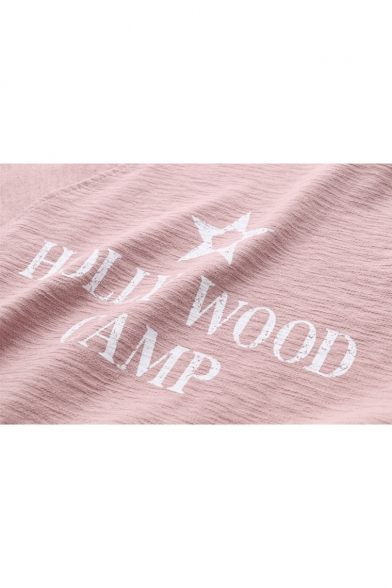 Pentagram Pullover Long Letter Sweatshirt Printed Sleeve Neck Round PggCxqd