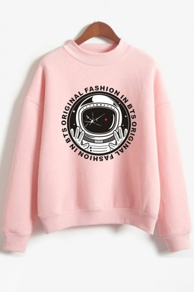 Letter Print ORIGINAL Pullover Sweatshirt FASHION Astronaut BTS IN txCqCwBp
