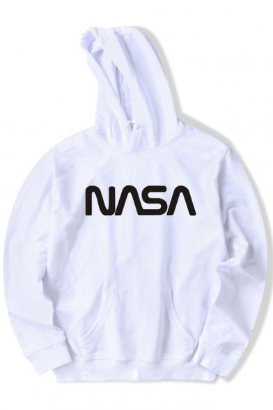 NASA Letter Hoodie Long Sleeve Printed TYqFx8wqX