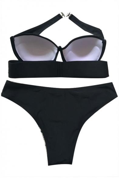 New Trendy Sexy Plain Hollow Out Strapless Bikini