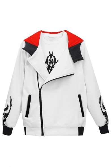 Print Long Color Block Letter Up Hooded NOTHING Jacket Graphic Sleeve IS Zip TRUE Oqx0FgIS