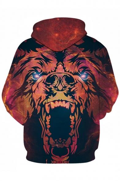 Sleeve Lion Long Hoodie Printed Digital afqWgwx