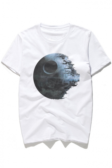 Earth Ruins Round Tee Short Neck Printed in Sleeve rwOAxw